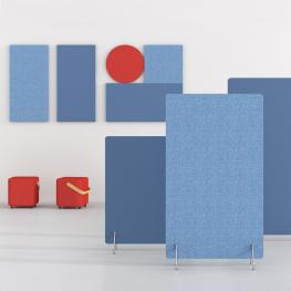 Sound absorbing partitions